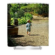 Explore, Edgefield Garden Shower Curtain