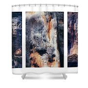 Texture Of Rocks In Canyon   Shower Curtain