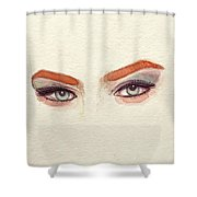 Makeup Art Painting Shower Curtain