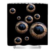Eyes Have It Black Shower Curtain