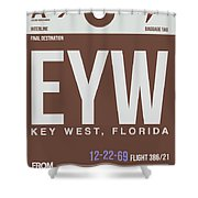 Eyw Key West Luggage Tag II Shower Curtain