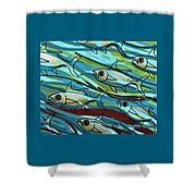 F Is For Fish Shower Curtain