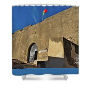 Facade Of The Medieval Castle Of Castro Marim Shower Curtain