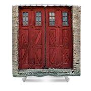 Factory Doors Shower Curtain