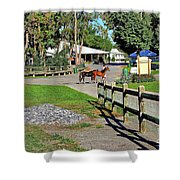 Fairgrounds In Rhinebeck New York Shower Curtain