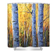 Fall Aspen Iv Shower Curtain