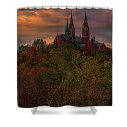 Fall Clouds Over Holy Hill Shower Curtain