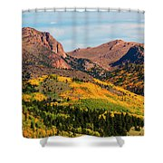Fall Colors On The North Face Of Pikes Peak Shower Curtain
