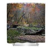Fall On The Kings River Shower Curtain