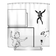 Fall White Shower Curtain