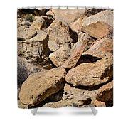 Fallen Sandstone Boulders Shower Curtain
