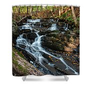 Falling Waters In October Shower Curtain