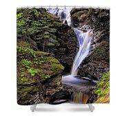 Falls Of Acharn - Perthshire Scotland - Waterfall Shower Curtain by Jason Politte