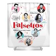 Falsettos Shower Curtain