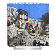 Famous Contemporary Artists Mural Shower Curtain