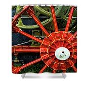 Fancy Tractor Wheel Shower Curtain