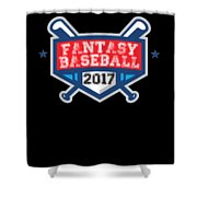 Fantasy Baseball Design 2017 Shower Curtain