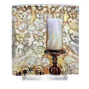 Fantasy Candle Shower Curtain