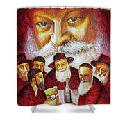 Farbrengen With The Rebbe Shower Curtain