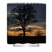 Farm Country Sunset Shower Curtain