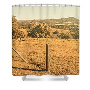 Farm Fields Of Eumundi, Sunshine Coast Shower Curtain