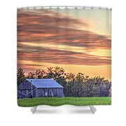 Farm From Beyond 2 Shower Curtain