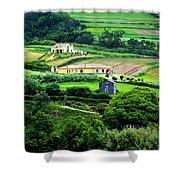 Farm Houses Shower Curtain