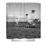 Farmer Plowes Field Shower Curtain