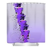 Fashion Models Looking Chic In Violet With A Touch Of Pink Shower Curtain