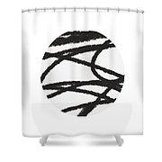 Fastball 2- Modern Art By Linda Woods Shower Curtain