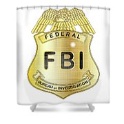 Fbi Badge Shower Curtain