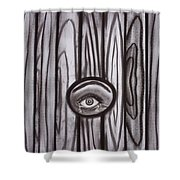 Fear - Eye Through Fence Shower Curtain