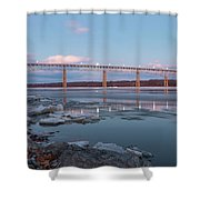 February Evening At Charles Rider Park Shower Curtain