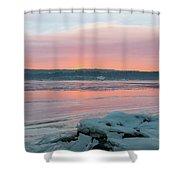 February Sunrise On The Hudson Shower Curtain