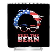 Feel The Bern Patriotic Shower Curtain