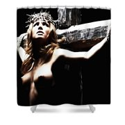 Female Christ Shower Curtain