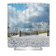 Fences In The Sand Shower Curtain