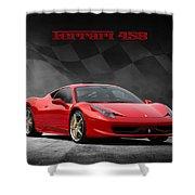 Ferrari 458 Shower Curtain