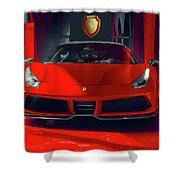 Ferrari Red Shower Curtain