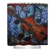 Fiddle 1 Shower Curtain