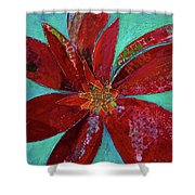 Fiery Bromeliad I Shower Curtain