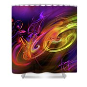 Cellist In Space Shower Curtain