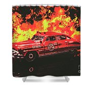 Fire Hornet Shower Curtain