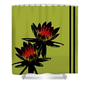 Fire Lilies Shower Curtain