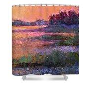 Fire Marsh Shower Curtain