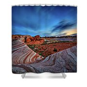 Fire Wave Iv Shower Curtain