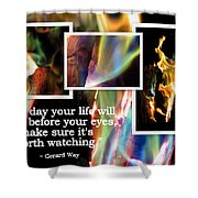 Fire With Color Shower Curtain