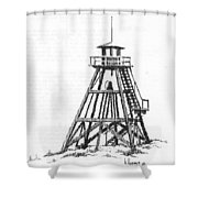 Firetower Helena, Montana Shower Curtain