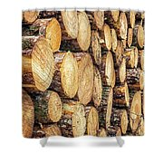 Firewood  Shower Curtain by Nick Bywater