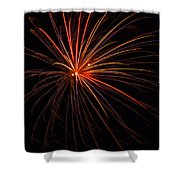Fireworks Burst Shower Curtain by Meta Gatschenberger